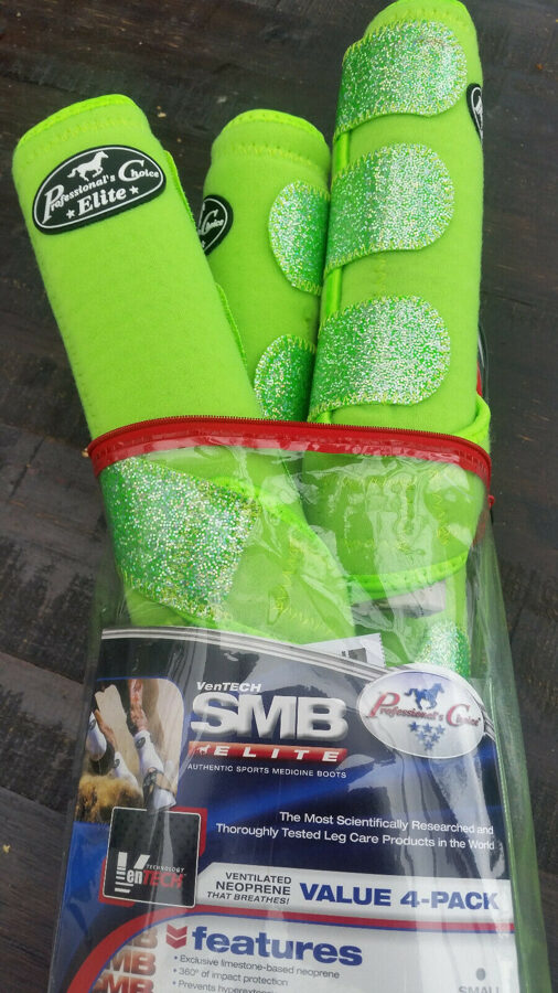 Professional's Choice Ventech Elite, 4er Pack, Lime-glitter, L