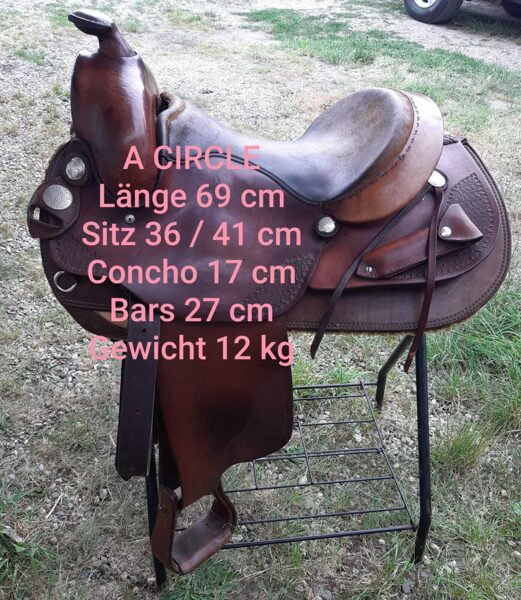 "Circle ""A"" Westernsattel Reining, allaround, handcrafted by American Saddlery, gebraucht"