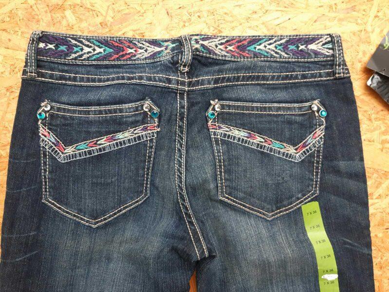 Wrangler Ladies Jeans, Rock 47, Boot Cut, langes Bein