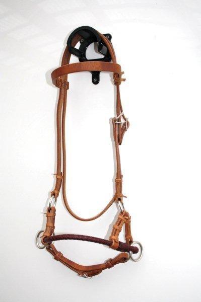 Side Pull - LATIGO LEATHER BRAIDED NOSEBAND - Harness Kopfstück