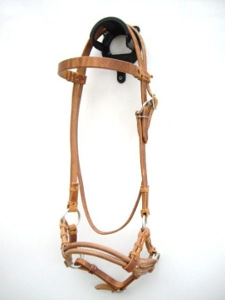 sidepull Harness double leather Noseband