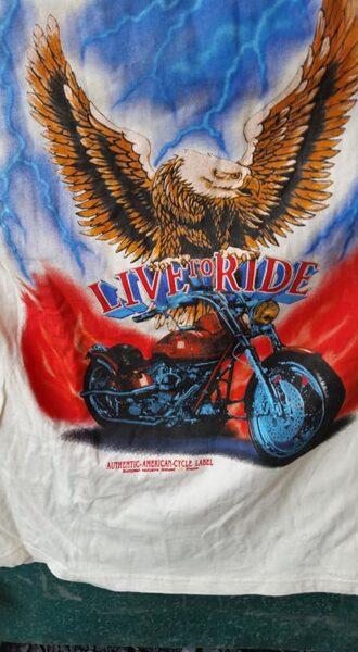 """T-shirt aus USA, """"Live to ride"""", XL"""