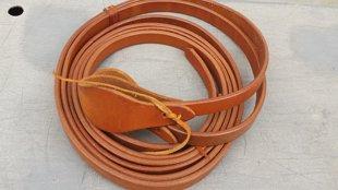 Zügel, Harness Leder. Farbe natur. 1.9cm breit.