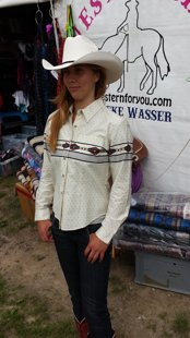 Schöne Western-blousen für schlanke Mädels