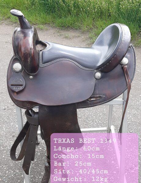 Westernsattel, Texas Best 1349, gebraucht