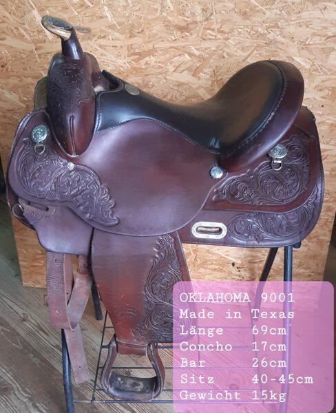 Westernsattel, Oklahoma 9001, Made in Texas, gebraucht