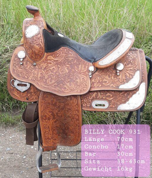Westernsattel, Billy Cook 931, Made in Texas, gebraucht