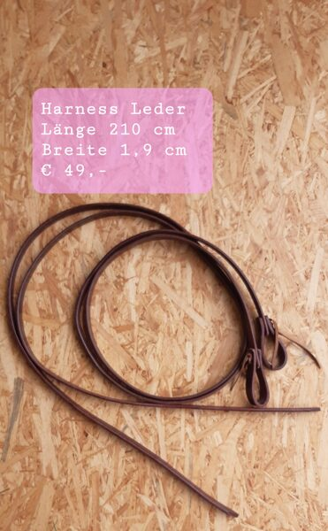 Westernzügel, Harness-Leder