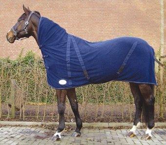 Abschwitz-Decke  Fleece mit Halsteil