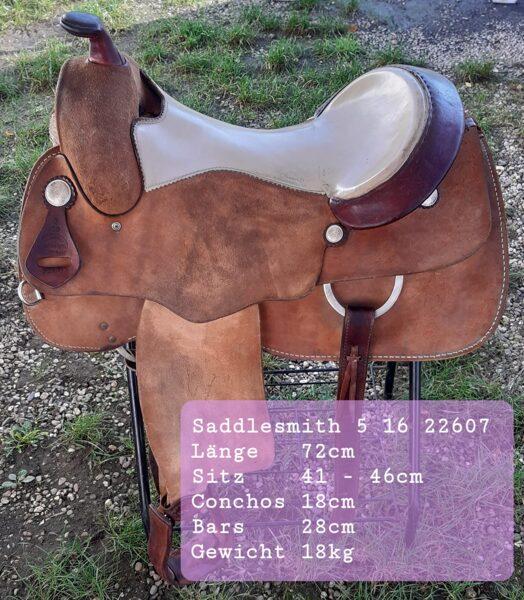 """Westernsattel, Saddlesmith 2207, Roughout, 16"""", gebraucht"""